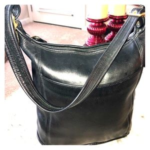 Coach Leather Black Large Purse